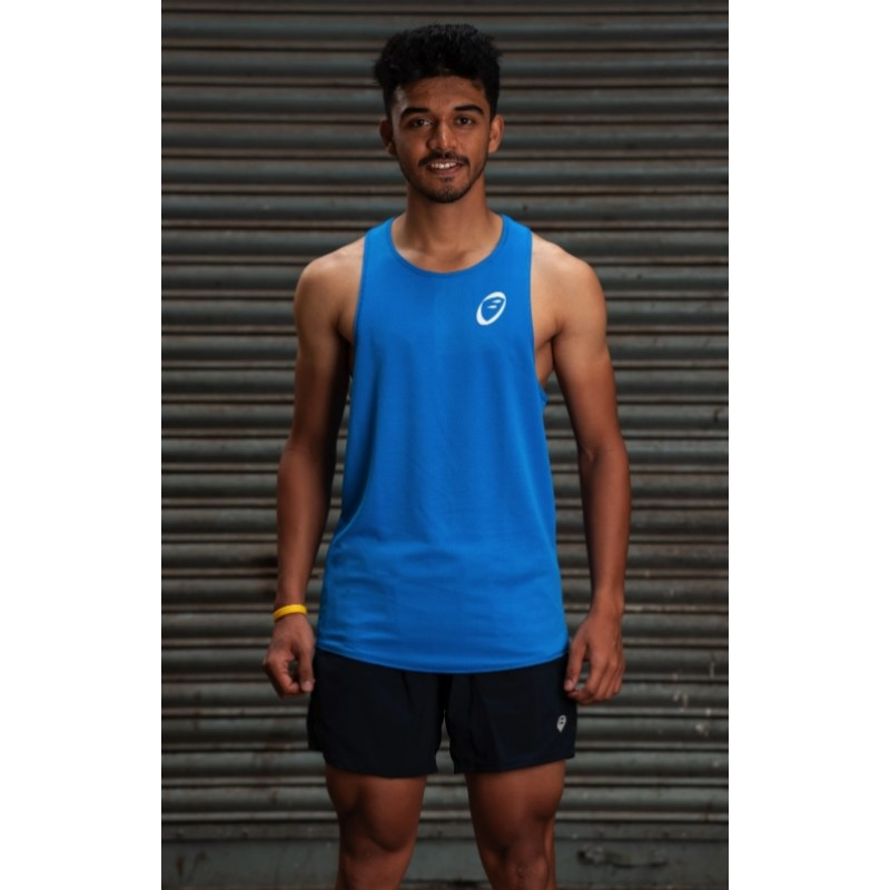 Apace Stride Mens Lightweight Singlet Blue