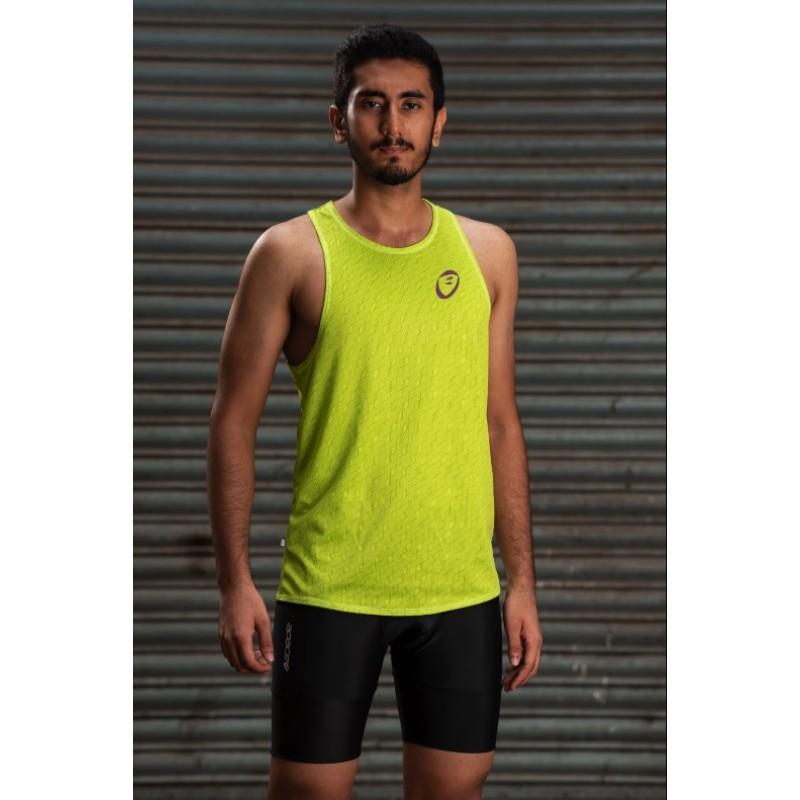 Apace Stride Mens Lightweight Singlet Lime