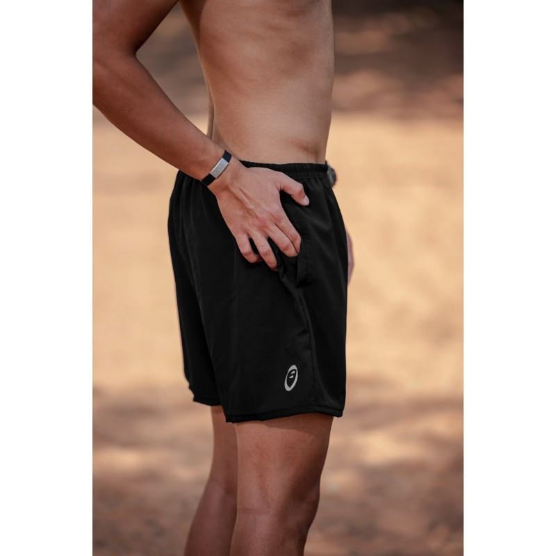 Apace Tempo Mens Running Shorts Black