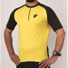 Apace Transition Mens Cycling Jersey Lemon Yellow