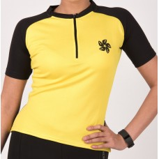 Apace Transition Womens Cycling Jersey Lemon Yellow