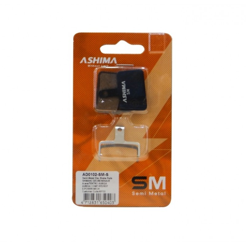 Ashima Semi Metal Brake Pad-AD0102-SM-S