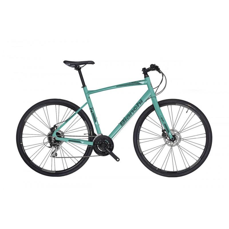 Bianchi C Sport 2.5 Hybrid Bike 2018 Celeste Green