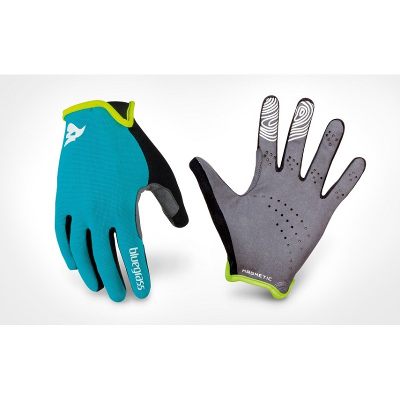 Bluegrass Magnete Lite Full Finger Hand Gloves Cyan Green 2019