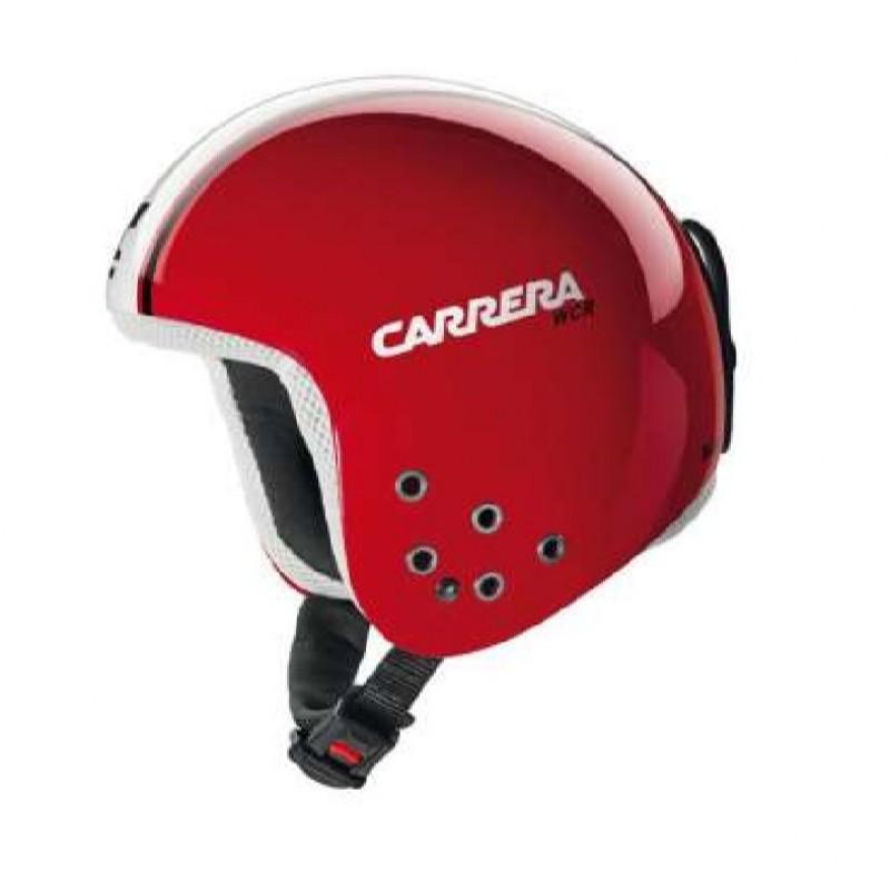 Carrera Bullet Fiberglass Shell Helmet Red Shinny Speed