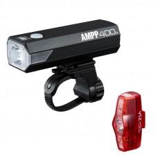 Cateye AMPP400/VIZ150 Rechargeable Bicycle Lampset