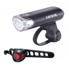 Cateye HL-EL135N Front And ORB Rear Light Combo