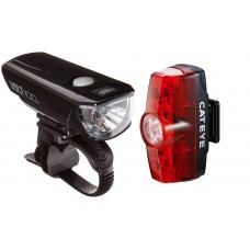 Cateye HL-EL150RC Volt100 And TL-LD635-R Rapid Mini Bicycle Headlight Taillight Set