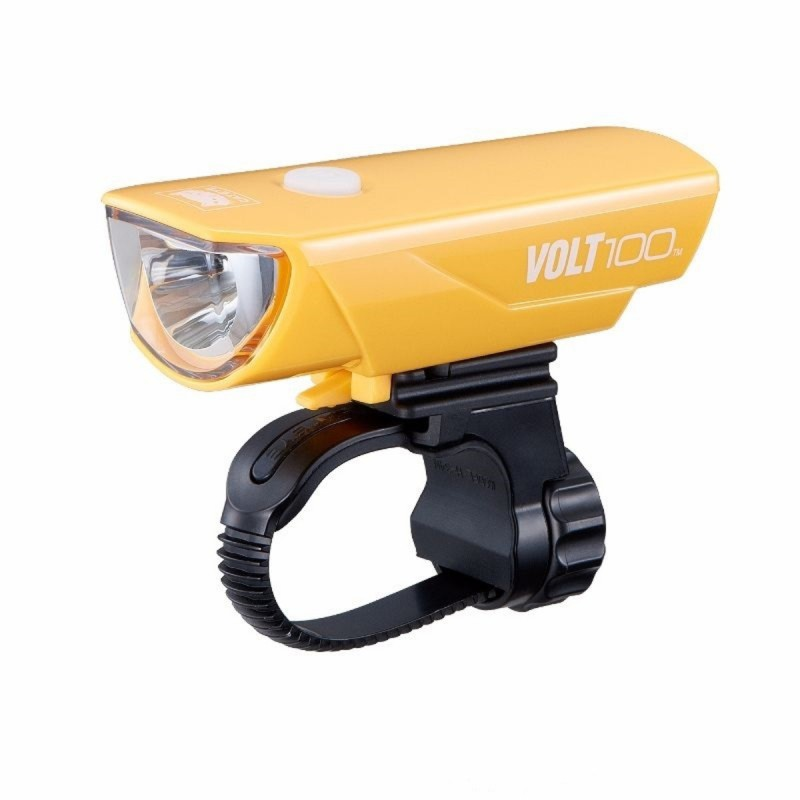 Cateye Cycle Light Volt 100 HL-EL 150RC Yellow