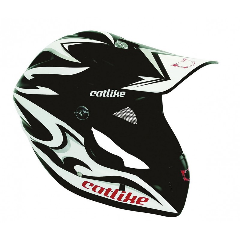 Catlike Gravity Black White Silver Matt Full Face MTB Helmet
