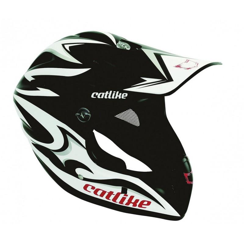 Catlike Gravity Black White Silver Matt Full Face MTB Helmet