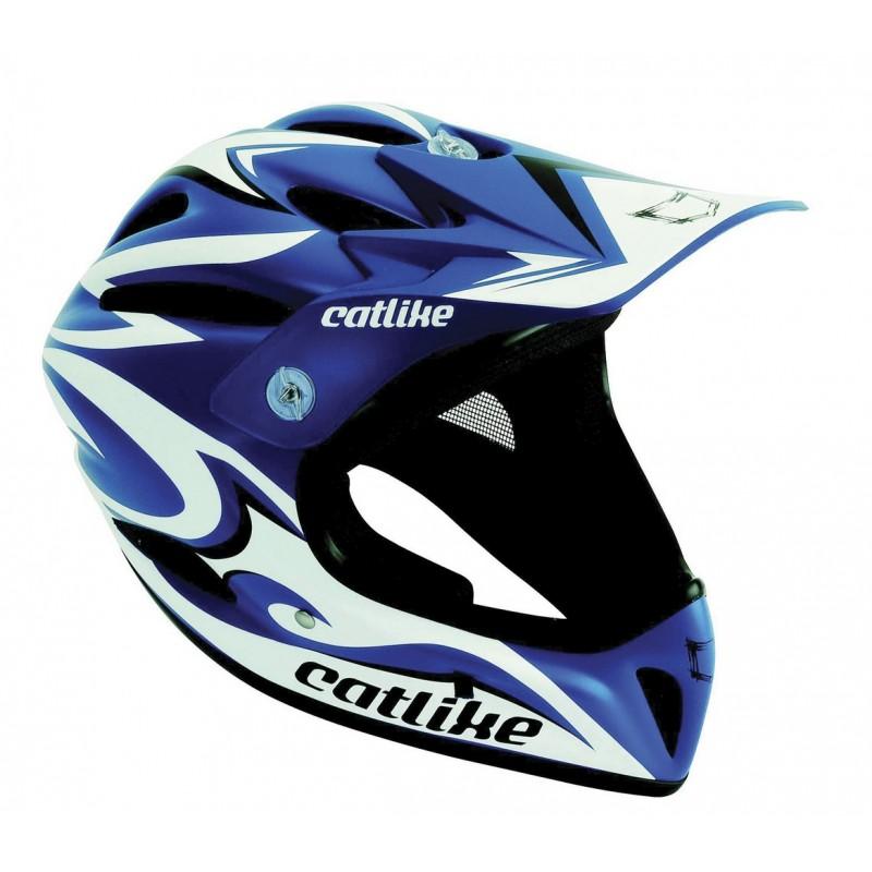 Catlike Gravity Blue White Black Matt Full Face MTB Helmet
