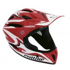 Catlike Gravity Red White Black Matt Full Face MTB Helmet