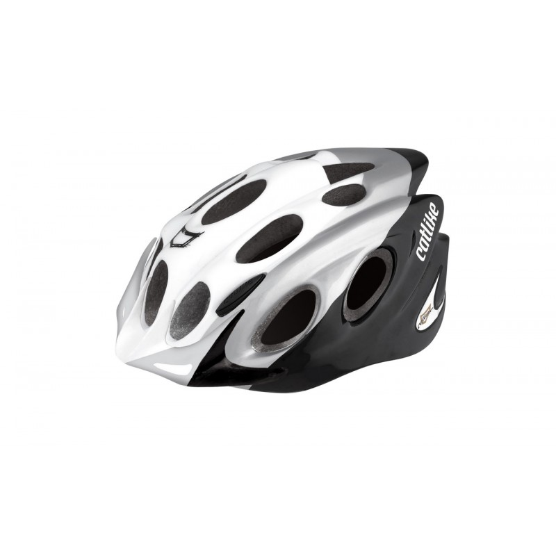 Catlike Kompact'o White-Silver-Black With Visor Bicycle Helmet