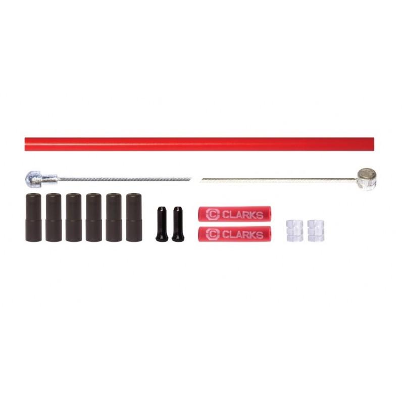 Clarks Brake Kit Stainless Steel Red