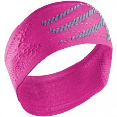 Compressport Headband On/Off Fluo Pink