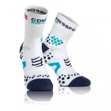 Compressport Racing Socks V2.1 Run Hi White/Blue