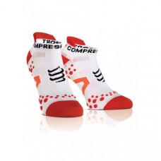 Compressport Racing Socks V2.1 Run Lo White/Red