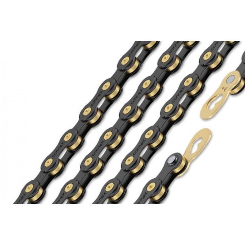 Connex 9sB 9 Speed Bike Chain Black EDI Coating, Brass
