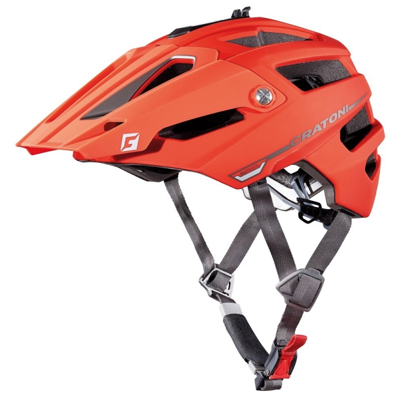 Cratoni Alltrack MTB Helmet Red Black Rubber