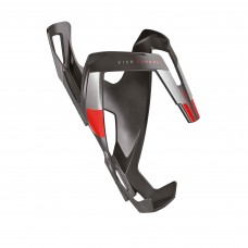 Elite VICO Bottle Cage Carbon Mat Graphic Red