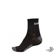 Endura BaaBaa Merino Cycling Socks Twin Pack Black