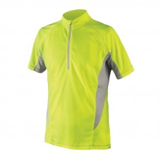 Endura Cairn S/S Cycling Jersey Hi Viz Yellow