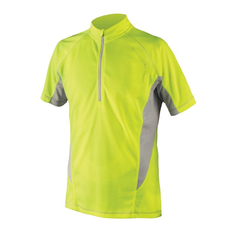 Endura Cairn S/S Cycling Jersey Hi Viz Yellow