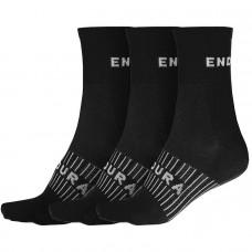 Endura CoolMax Stripe II Socks (Triple Pack) Black