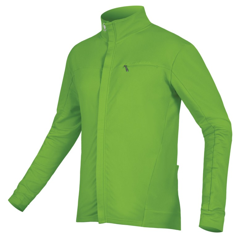 Endura Xtract Roubaix LS Cycling Jersey Hi-Viz Green (GV)