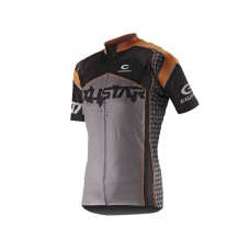 Exustar Cycling Jersey Black Grey Orange