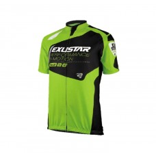 Exustar Cycling Jersey Green Black