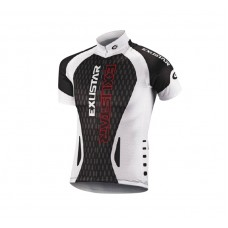 Exustar Cycling Jersey White Black Red