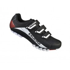 Exustar Cycling MTB Shoe Black White Red