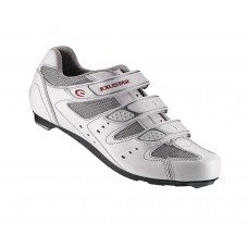 Exustar Cycling Road Shoe White Silver