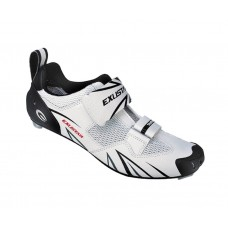 Exustar Cycling Triathlon Shoe White Black