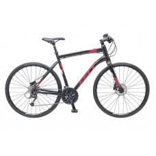 Felt QX85 Hybrid Bike 2017 Matt Black Reflective Grey and Red