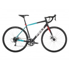 Felt VR60 Road Endurance Bike 2018 Matt Black Aqua and Red