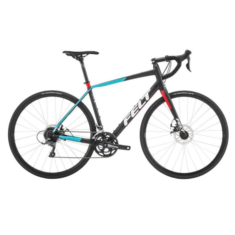 Felt VR60 Road Endurance Bike 2018 Matt Black Aqua and Red