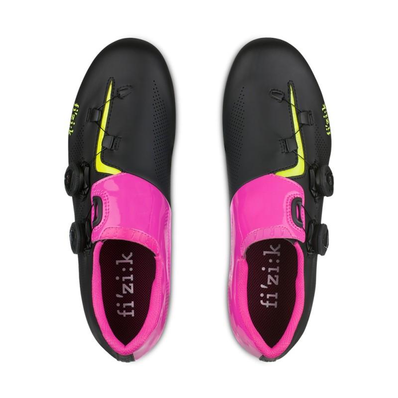 Fizik R3 Aria Road Cycling Shoe Black Pink Yellow