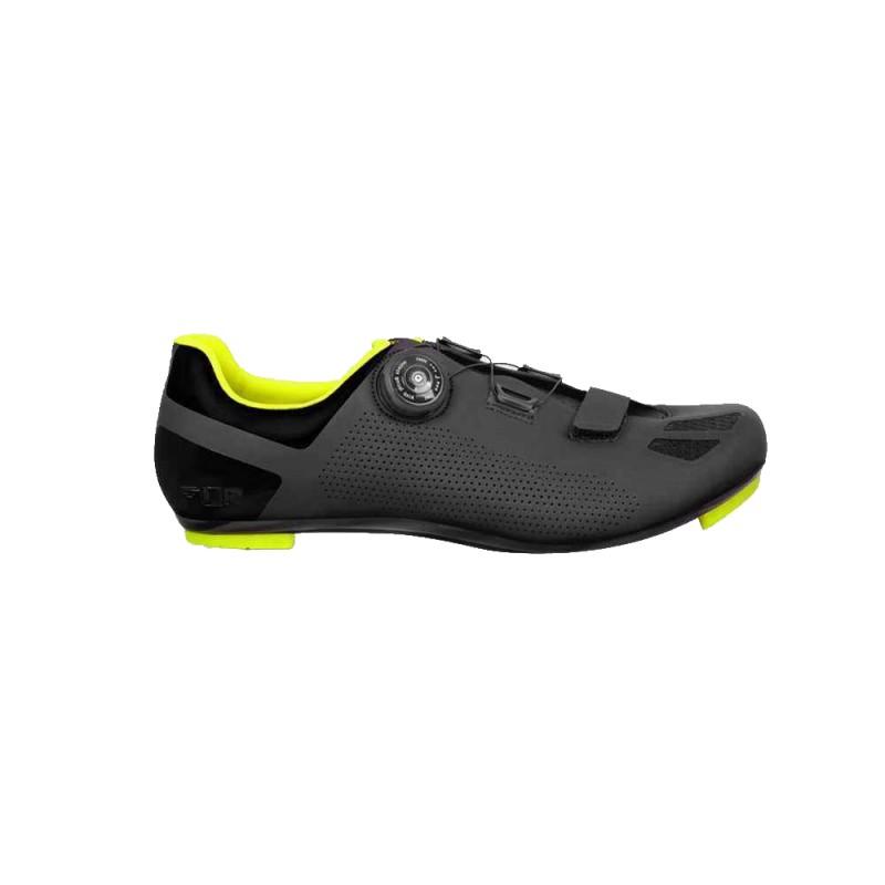 FLR F-11 Road Shoe Black/Neon Yellow