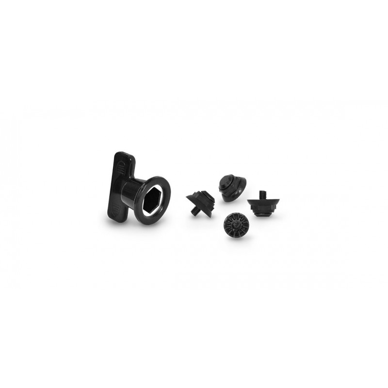 FLR MTB Shoe Parts 4 Studs and 1 Wrench Black