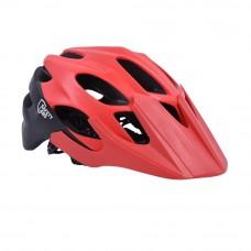 FLR Vox MTB Cycling Helmet Matt Black Red
