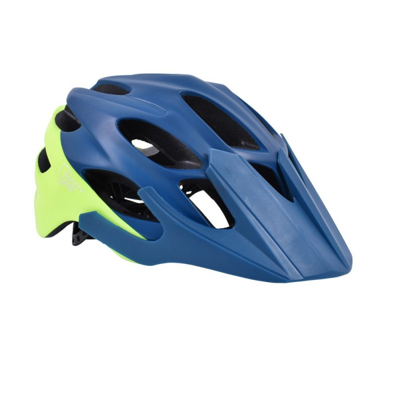 FLR Vox MTB Cycling Helmet Matt Blue Neon Yellow