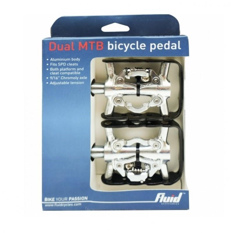 Fluid Dual MTB Alloy Bicycle Pedal