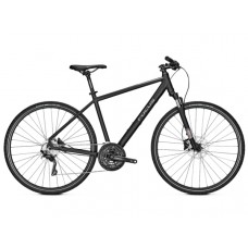 Focus 28 Men Crater Lake 3.9 Hybrid Bike 2019 Magic Black Matt
