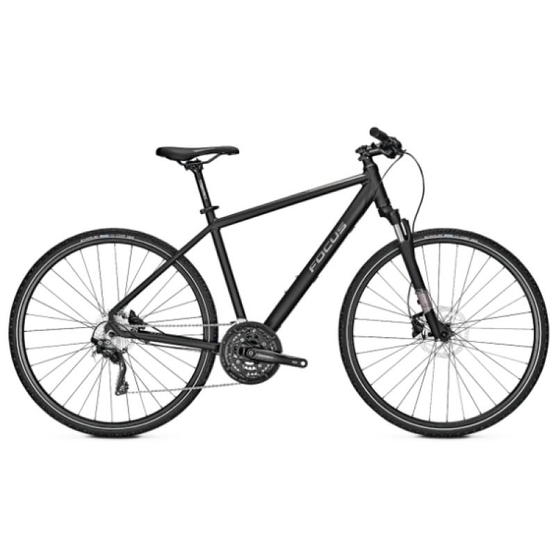 Focus 28 Men Crater Lake 3.9 Hybrid Bike 2019 Magic Black Matt