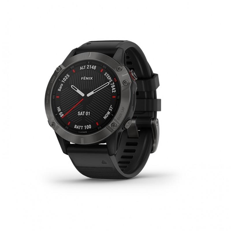 Garmin Fenix 6 Smart Watch Sapphire Carbon Gray DLC with Black Band