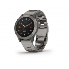 Garmin Fenix 6 Smart Watch Sapphire Titanium With Vented Titanium Bracelet
