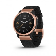 Garmin Fenix 6S Smart Watch Sapphire Rose Gold-tone with Heathered Black Nylon Band, North